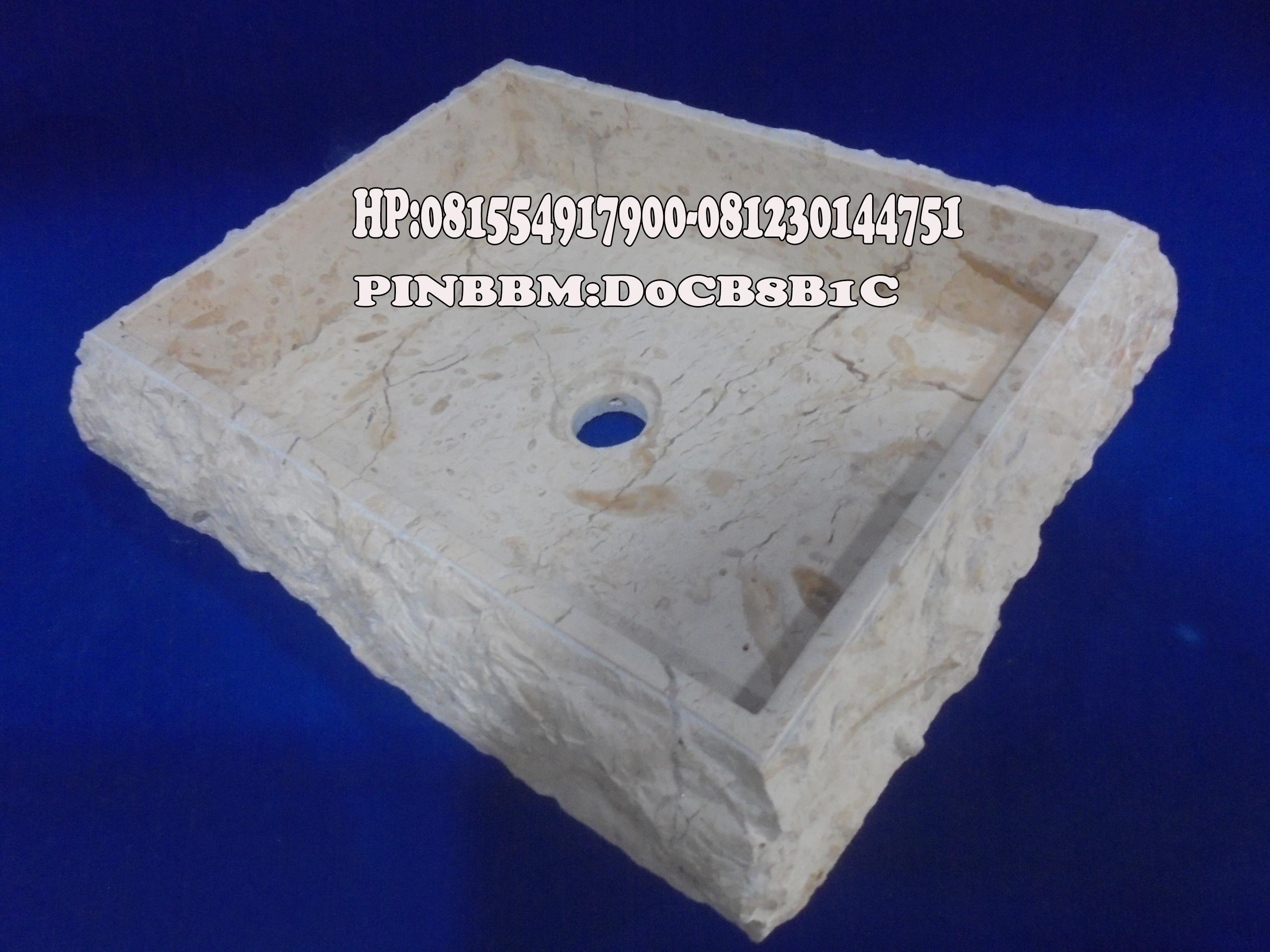 Wastafel Marmer Kotak
