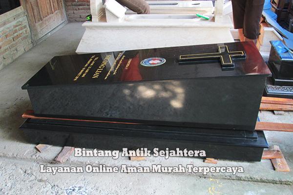 Makam Marmer Granit Model Kristen
