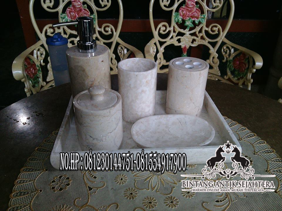Bathroom Set Bahan Marmer