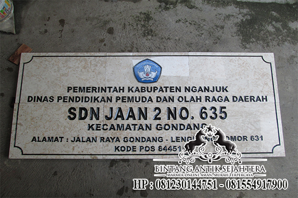 Prasasti Marmer Surabaya | Harga Prasasti Marmer