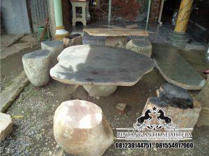 Meja Taman Batu Alam , Jual Kerajinan Marmer, Harga Meja Batu Kali