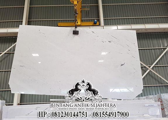 Lantai Bianco Santorini Harga Murah, Jual Produk Marmer Putih Tulungagung