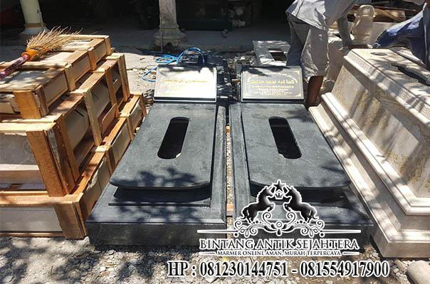 Makam Modern Bahan Granit Black Nero, Makam Model Jakartanan