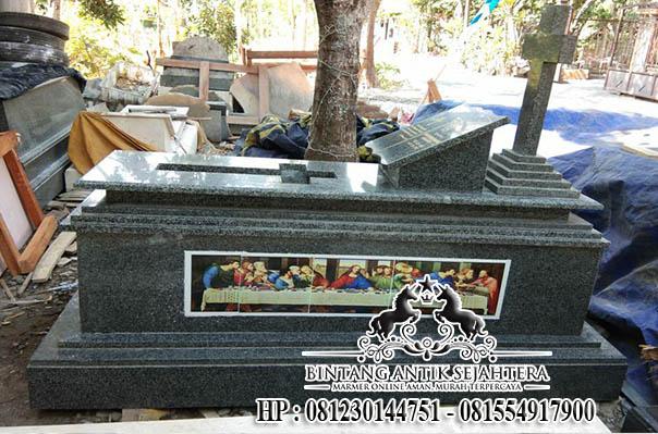 Makam Kristen Granit Dengan Perjamuan, Harga Makam Granit Terbaru
