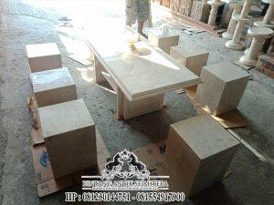 Contoh Meja Kursi Kotak Marmer