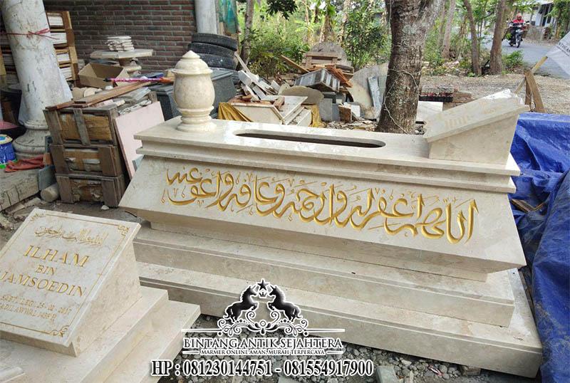 Makam Marmer Bokoran Tumpuk, Jual Makam Marmer