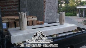 Model Makam Custom Marmer, Makam Trap Dua Nisan Tulip Terbaru