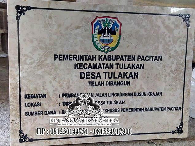 Prasasti Bahan Marmer Murah, Jasa Pembuatan Prasasti Semarang
