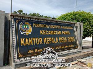 Contoh Nameboard Granit, Papan Nama Desa Sodo