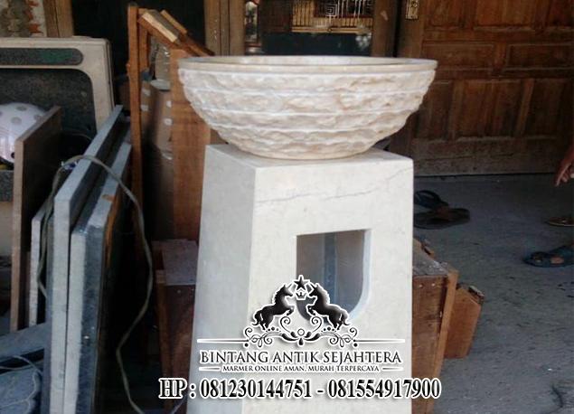 Wastafel Cuci Tangan Minimalis, Wastafel Pedestal Murah Madiun, Pengrajin Wastafel Batu Alam
