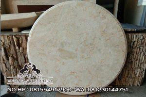 Top Table Yang Cocok Untuk Meja Tamu, Top Table Marmer Bulat