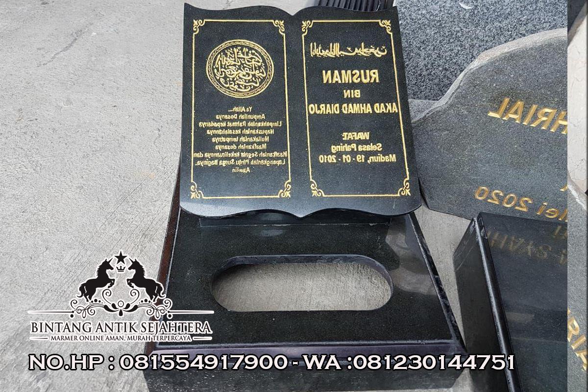 Nisan Kuburan Granit Pacitan, Jual Nisan Model Sayap, Model Nisan Kuburan Terbaru