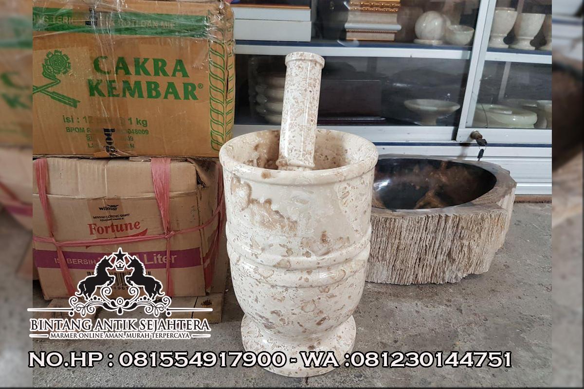 Tumbukan Bahan Marmer, Kerajinan Marmer Online, Perabot Dapur Tema Marmer