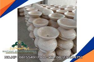 Grosir Wastafel Batu Marmer Asli