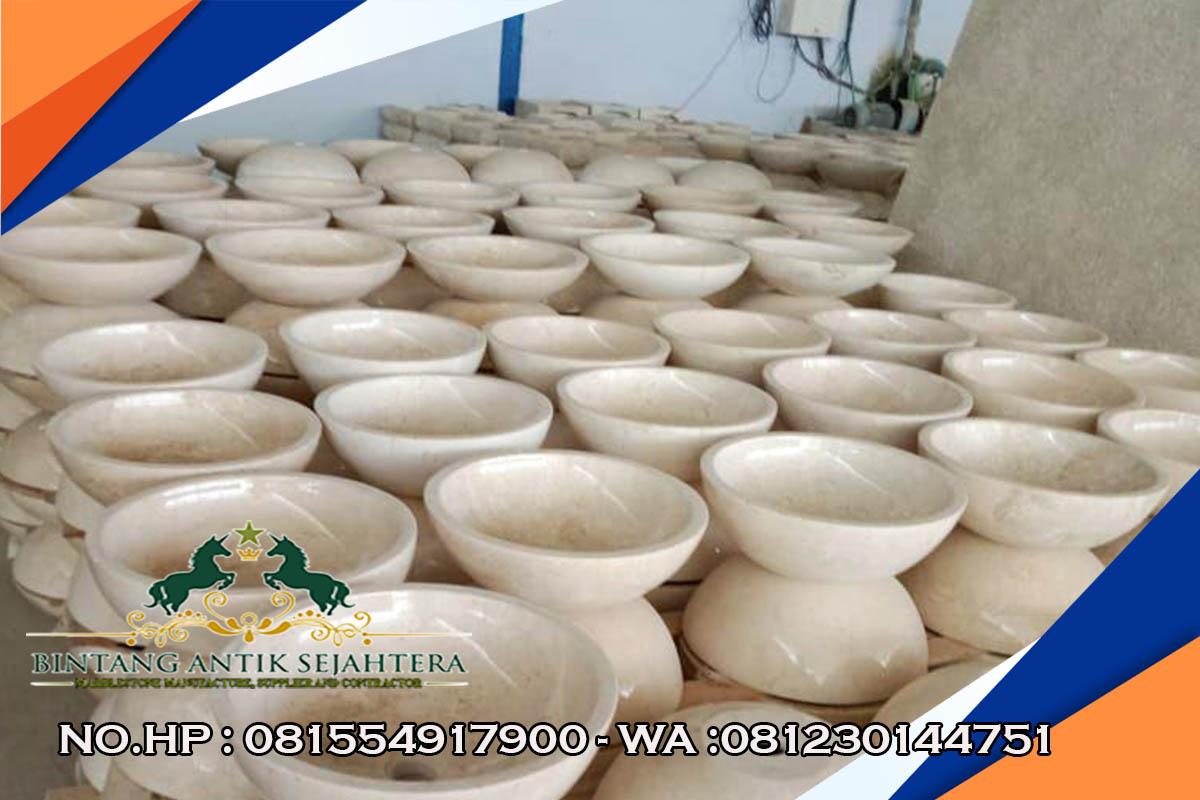 Grosir Wastafel Batu Marmer Asli, Wastafel Marmer Mangkok