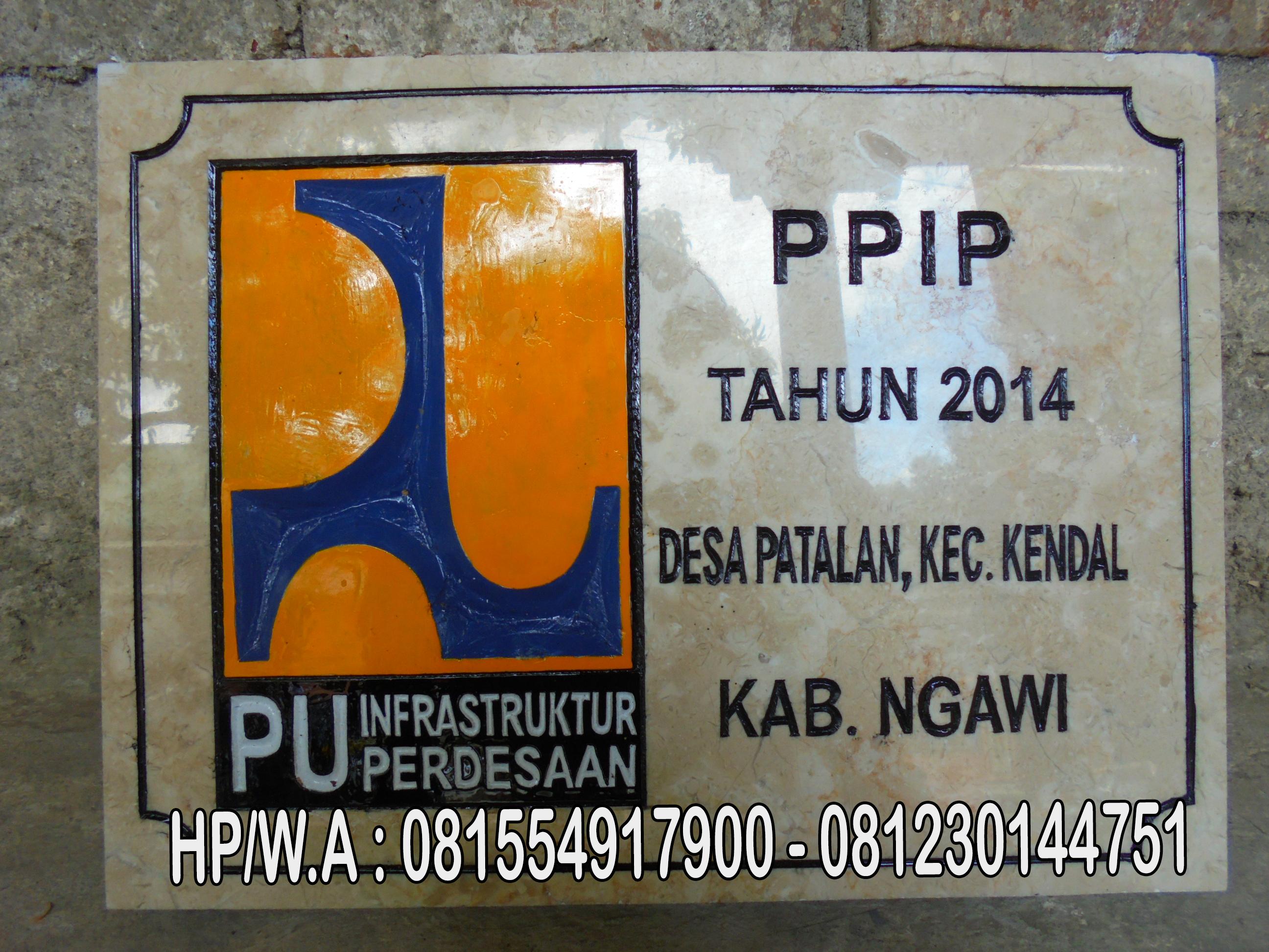 Prasasti PPIP,Jual Prasasti Marmer
