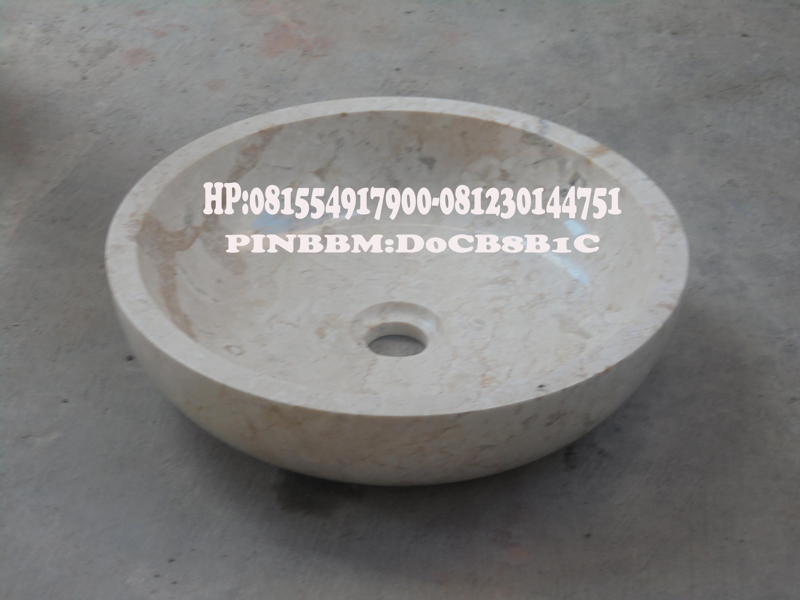 Wastafel Bulat Marmer