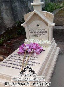 Makam Kristen Salib Bahan Marmer, Makam Custom Terbaru