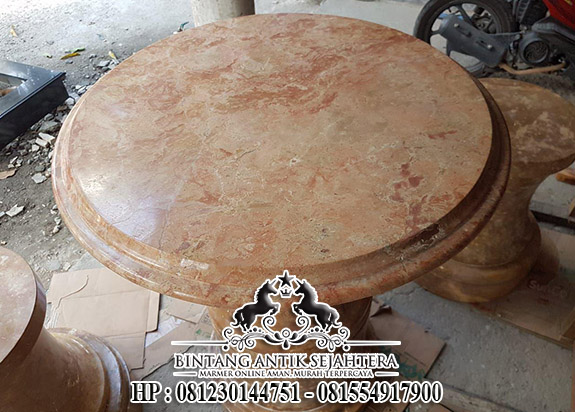 Meja Marmer Java Roso, Harga Top Table Kitchen Set Marmer