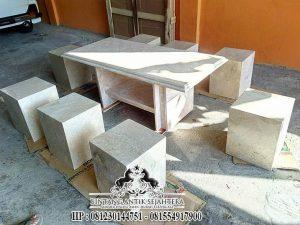Contoh Meja Kursi Batu Alam