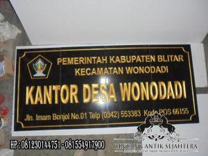 Papan Nama Lembaga Desa, Jual Papan Nama Granit