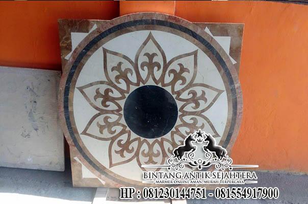 Lantai Inlay Bahan Marmer, Border Inlay Murah Tulungagung