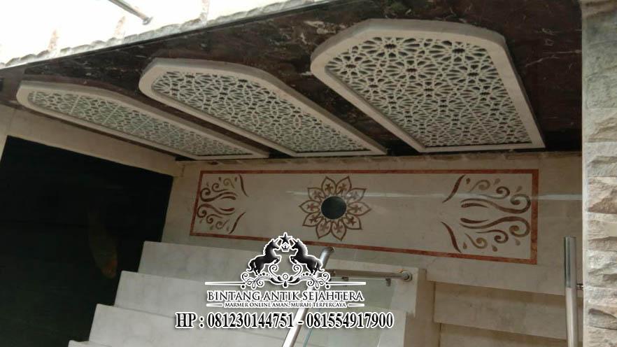 Lantai Motif Mewah Bahan Marmer, Lantai Border Inlay Surabaya