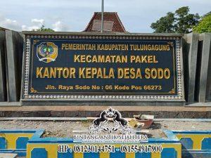 Papan Nama Kantor Desa, Nameboard Granit Alam Berkualitas