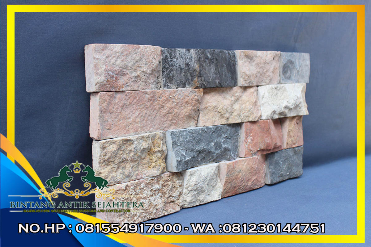 Wall Cladding Mewah Desain Terbaru, Produk Berkualitas Bahan Batu Alam Asli Tulungagung