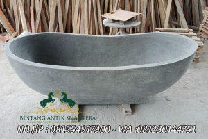 Bathtub Untuk Kamar Mandi Desain Minimalis, Bak Mandi Modern Bahan Batu Alam