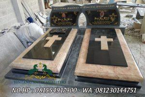 Model Makam Kristen Terbaru, Makam Kembar Bahan Batu Alam Model Minimalis