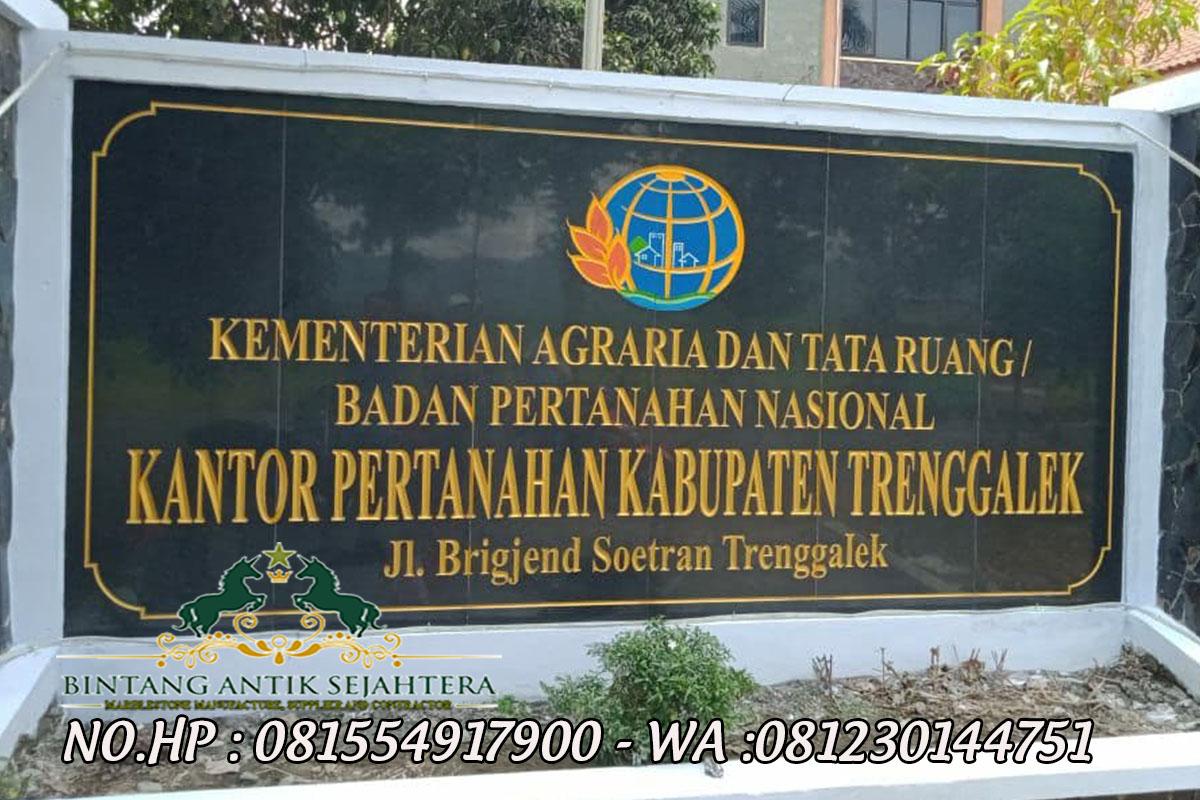 Papan Nama Instansi Pemerintahan, Contoh Papan Nama Instansi Batu Granit