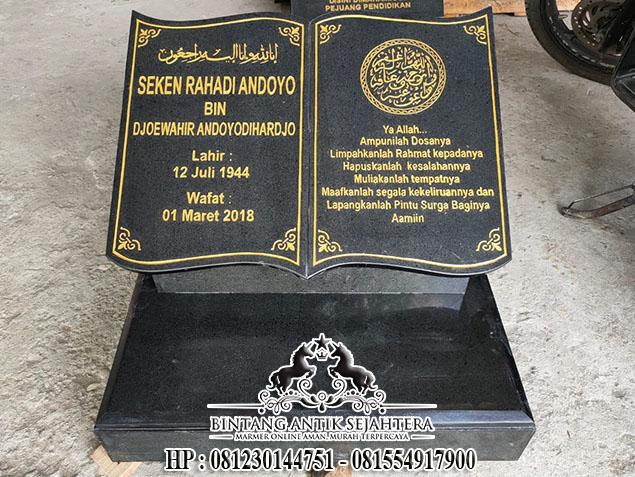 Batu Nisan Kuburan Islam Model Buku, Batu Nisan Kuburan Bahan Granit